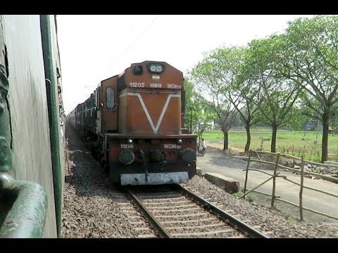 Just Crazy Overtake : TVC - Guwahati Superfast With HWH WDM3D Twins Crushes EMU : INDIAN RAILWAYS