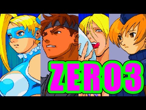 [60fps] TITLE DEMO - STREET FIGHTER ZERO3