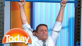 Karl goes for the chin-up world record | TODAY Show Australia