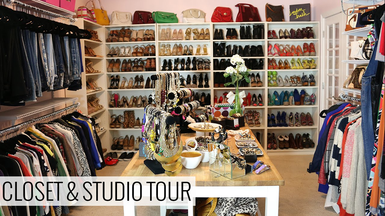 my closet and studio tour doovi