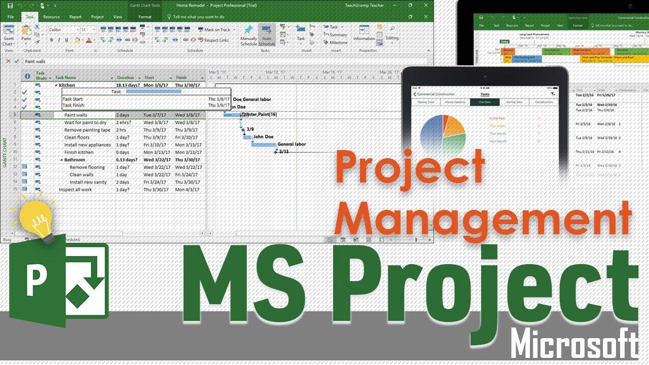 Ms Project عمل جدول زمني وحساب كلفة لمشروع على Youtube