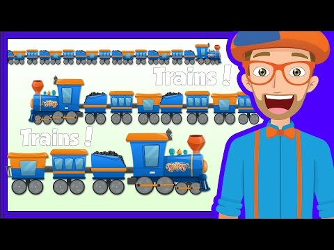 Thumbnail: Educational Trains for Kids | Blippi Train Song and more!