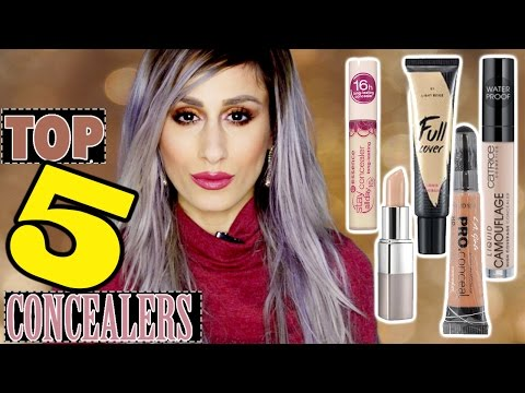 TOP 5 //  BEST Drugstore + Affordable CONCEALERS // Full Coverage Concealers for DARK UNDER EYES!