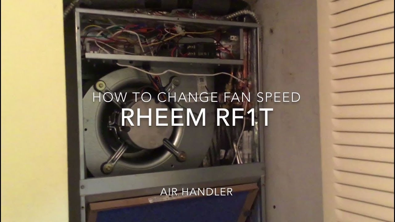 how to change fan speed on rheem ac rf1t air handler youtube rh youtube com Rheem Air Handler Installation Manual Rheem Air Conditioners