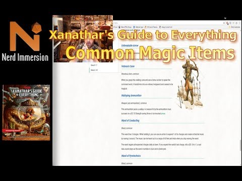 Xanathar's Guide To Everything: Common Magic Items | Nerd Immersion