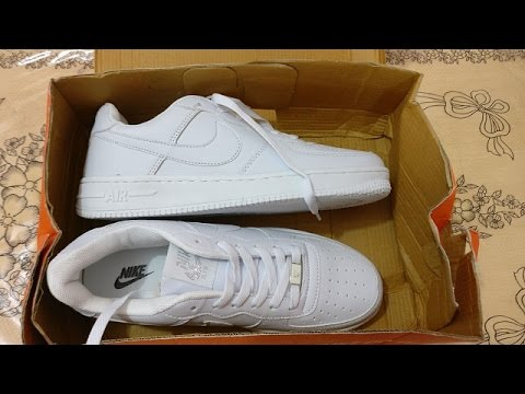online store 5675d aa41a Nike Air Force 1 White First Copy Fake (1499 -) INDIA   Unboxing