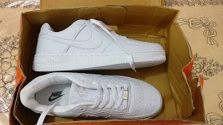 Nike Air Force 1 White First Copy/Fake (1499/-) INDIA | Unboxing |