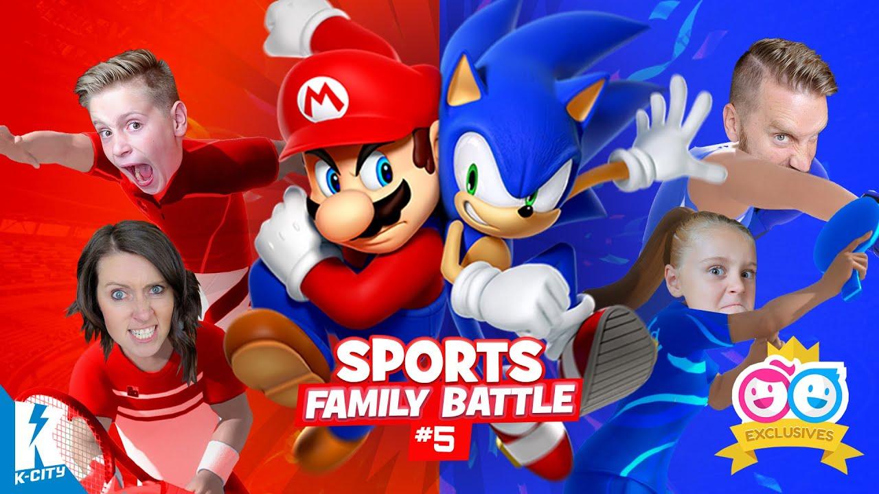 Mario & Sonic CLASH at Tokyo Games! (K-City Family Gaming Olympics Pt 5!)