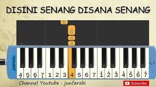 not pianika disini senang - tutorial belajar pianika lagu anak - not angka disana senang