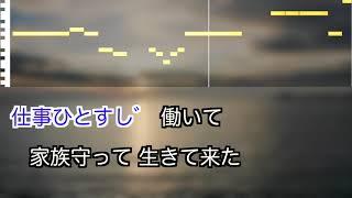【新曲】秋岡秀治   / 男の名刺 / 練習用制作カラオケ / 歌詞付き / フル / karaoke / 演歌