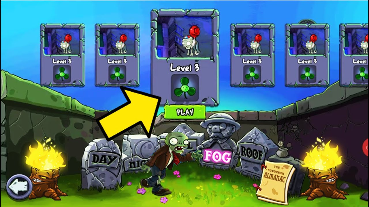 Best strategy Plants vs Zombies | Try To Get Blover in Fog Campaign