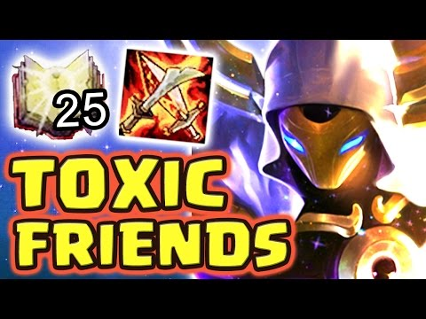 MY TOXIC FRIENDS MADE ME CRY !! RAGE TEAM 1-SHOTS FULL AP KASSADIN MID - Nightblue3