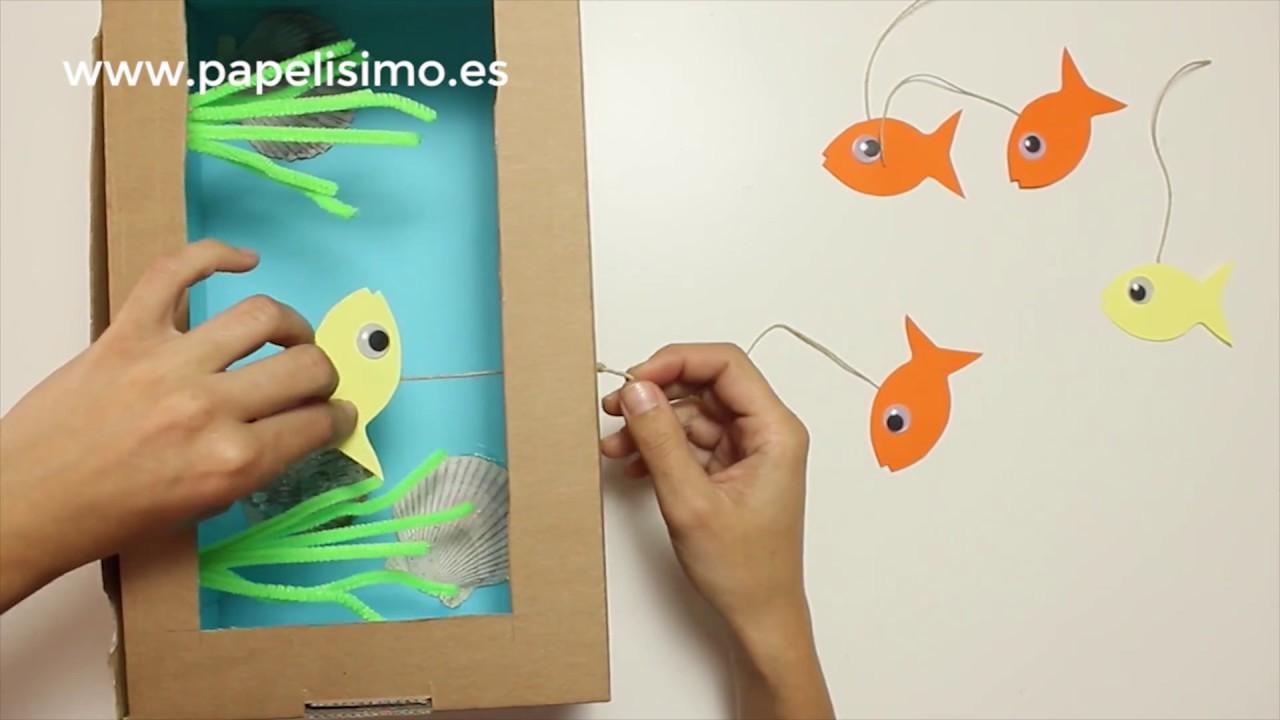 Cómo Hacer Acuario De Cartón Para Niños Youtube