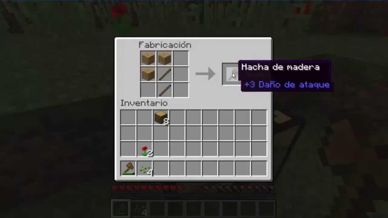 Como hacer un hacha empezando minecraft youtube - Como se hace una vidriera ...