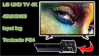 TV 4K LG 43UH6100 Ultra HD - TESTE no PS4 Input lag 33ms  - Função HDR -