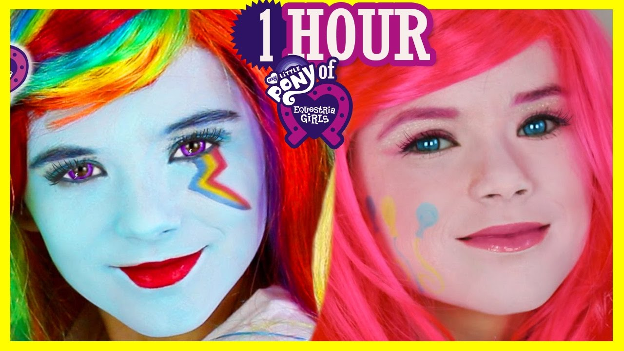 1 Hour My Little Pony Makeup Tutorials Amp Play Doh Rainbow