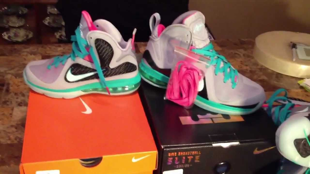 6ca7bc7885280 Lebron 9 elite south beach miami vice P.S   GS comparison - YouTube