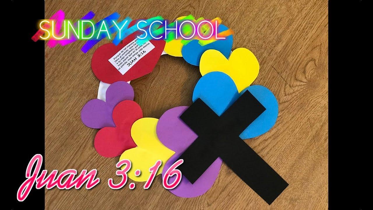 Manualidades para la escuela dominical juan 3 16 youtube - Cosas de manualidades para ninos ...