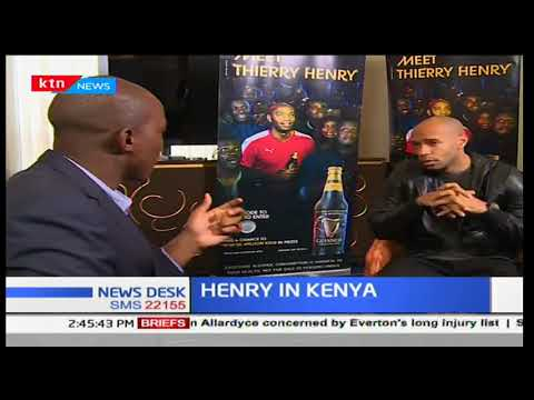 Former Arsenal player, Thierry Henry in Kenya