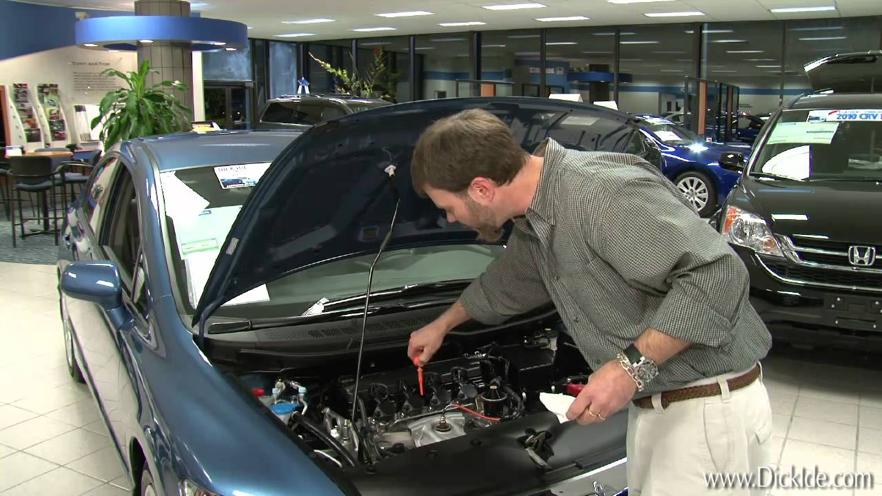 Dick Ide Honda   Service Tips   #3 : Checking Your Oil And Washer Fluid  Levels   YouTube