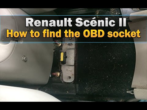 Renault Scenic OBD Socket How to find it - YouTube
