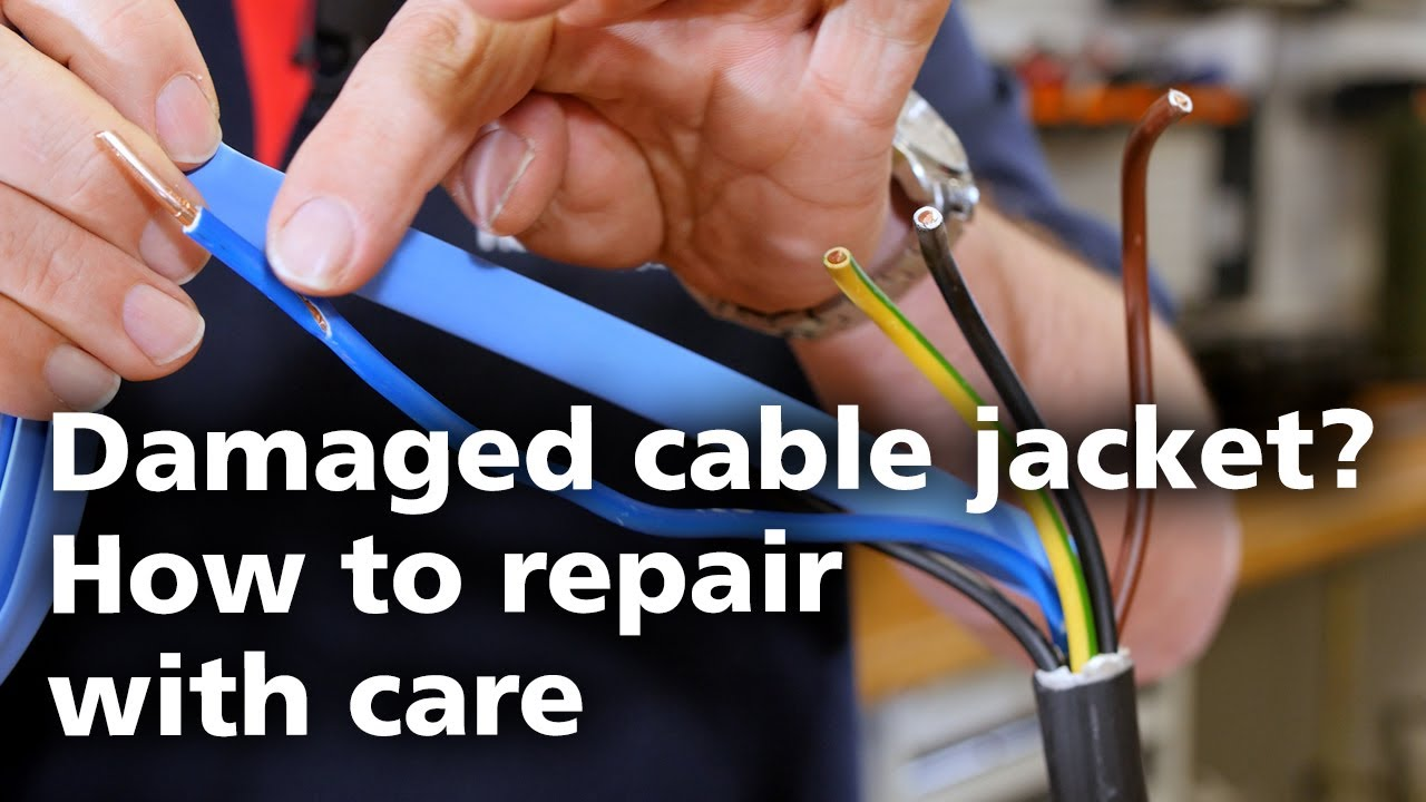 repair damaged wires with coloured heat shrink tubing 6 [ 1280 x 720 Pixel ]