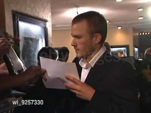 Heath Ledger at The Ring premiere