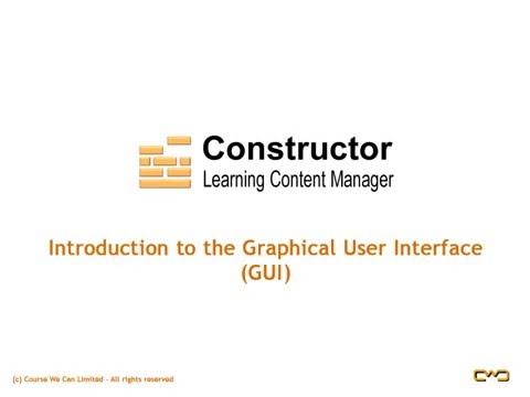 CourseBuilder Graphical User Interface (GUI) Tutorial