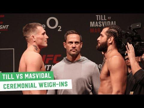 Darren Till vs. Jorge Masvidal Face Off | UFC London Ceremonial Weigh-Ins