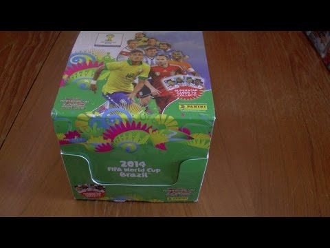 Unboxing Booster Box 70 Packs Adrenalyn Xl 2014 Fifa