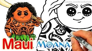 How to Draw Maui step by step Chibi - Disney Moana