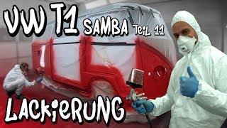 Der VW T1 Samba wird lackiert und Philipp muss mit an die Pistole!   Philipp Kaess  