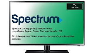 TV Channel Lineup: Spectrum TV App (Roku), Long Beach, WA