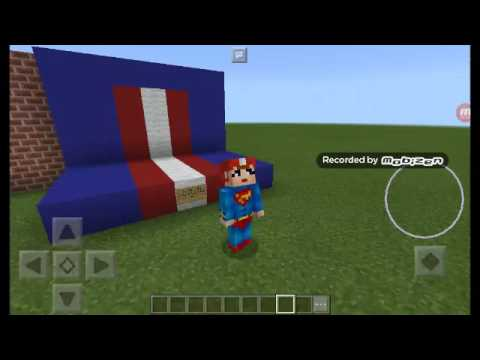MINECRAFT I LOVE LUCY SUPERMAN SKIN! (IN COLOR)