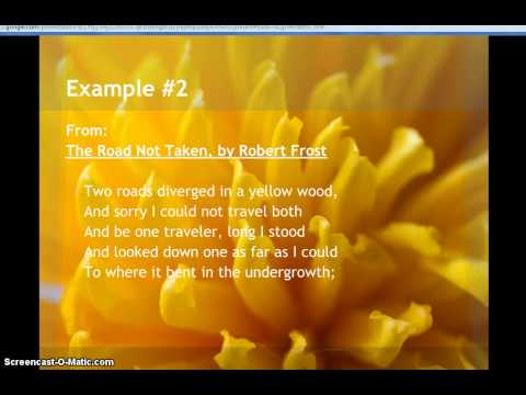 Examples of Narrative Poetry