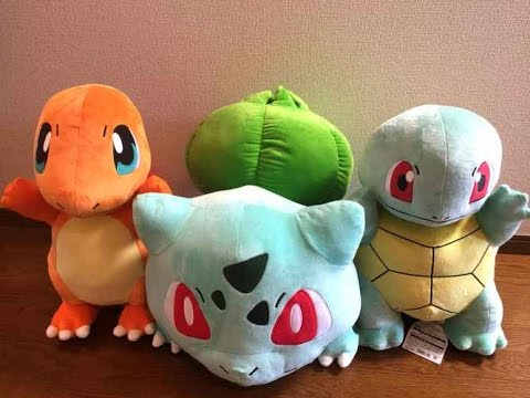 Lifesize Bulbasaur Charmander Squirtle Plush Toys Japan Pokemon Center