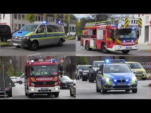 Einsatzfahrten Wohnungsbrand in München