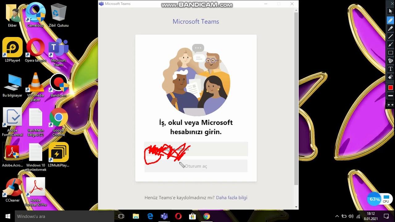Komputere Nece Microsoft Teams Yuklenir