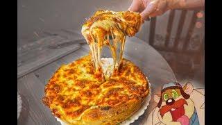 Пицца в сковороде - ПОЛ КИЛО СЫРНОГО УДОВОЛЬСТВИЯ. Chicago pizza