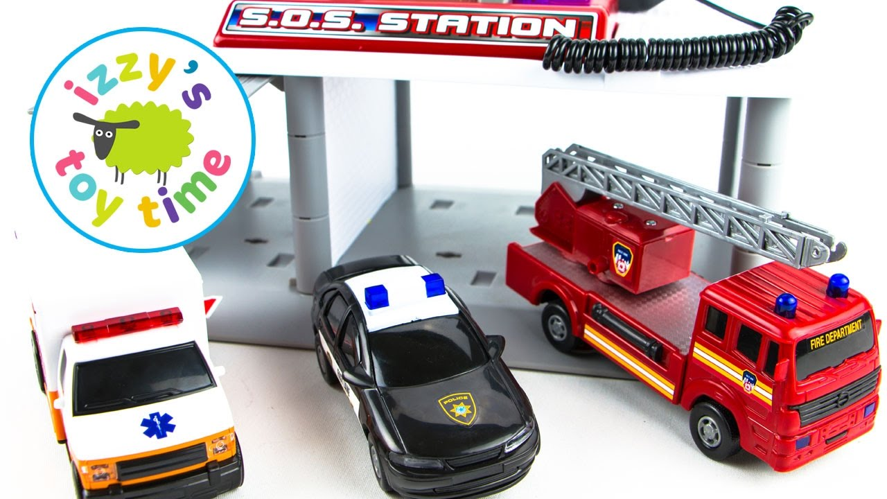Hot Wheels Fire Trucks Ambulances and Police Cars | Fast Lane SOS ...