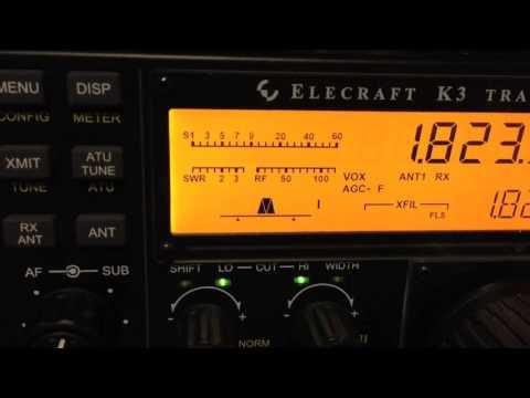 160 Meters N4DJ working HK1R and receiving on South Beverage HD