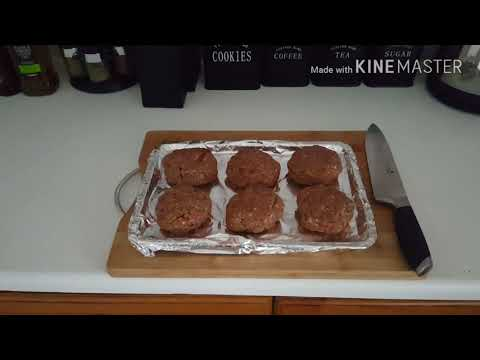 Beef Burgers Oven Cooked