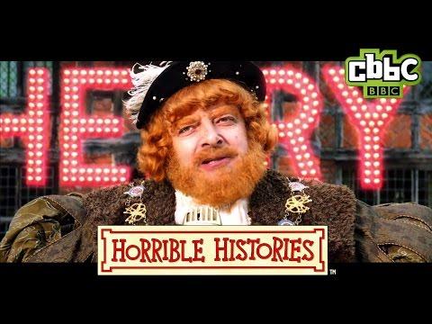 Horrible Histories Song - Henry VIII starring Rowan Atkinson - CBBC