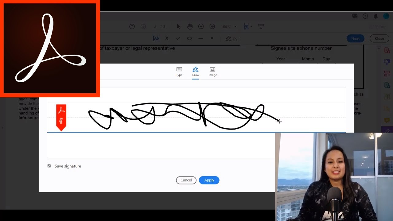 Easily Add A Digital Signature In Adobe Acrobat Pro Dc Sign Pdf