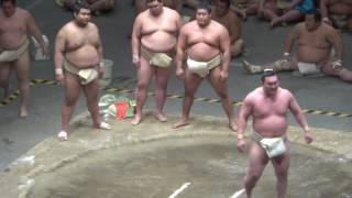 20170503 大相撲夏場所 稽古総見 横綱白鵬vs遠藤など.