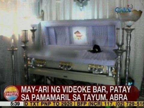 UB: May-ari ng videoke bar, patay sa pamamaril sa Tayum, Abra