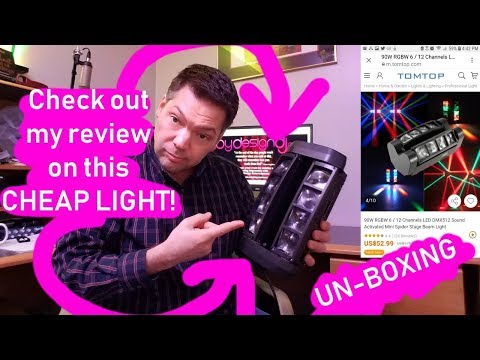 Tomshine Spider Special Effect Fixture! DJ Light Review.