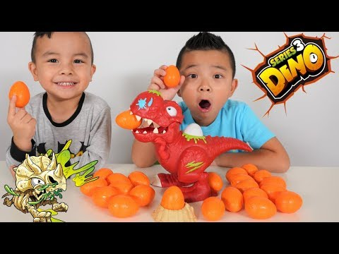 DINO SMASHERS 3 Surprise Eggs Opening Fun With CKN Toys