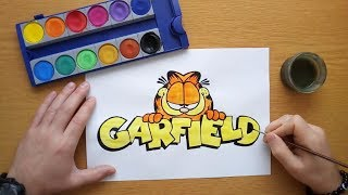 How to draw the Garfield logo