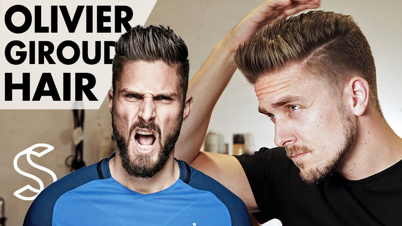 olivier giroud hairstyle - france footballer - worldcup hairstyle